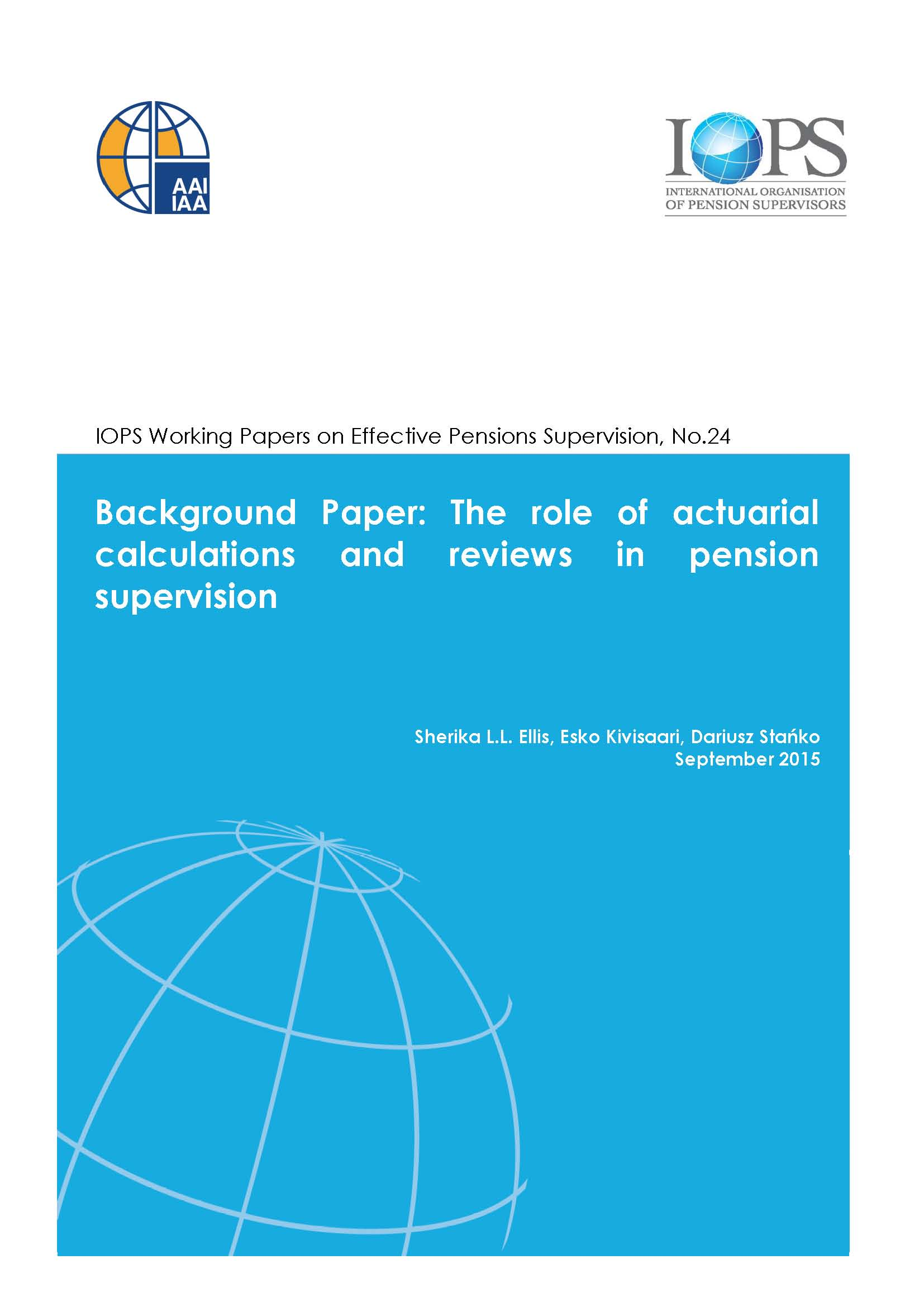 Joint Background Paper by IOPS and IAA