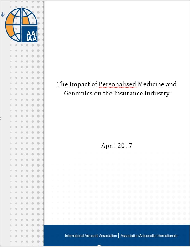 The Impact of Personalised Medicine and Genomics on the Insurance Industry